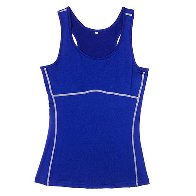 6e5eb05b20d Women Compression Under Base Sports Wear Yoga Tank Tops Ladies Gym Shirts  Skins Clothes Running Cami Vest-in Yoga Shirts from Sports   Entertainment  on ...