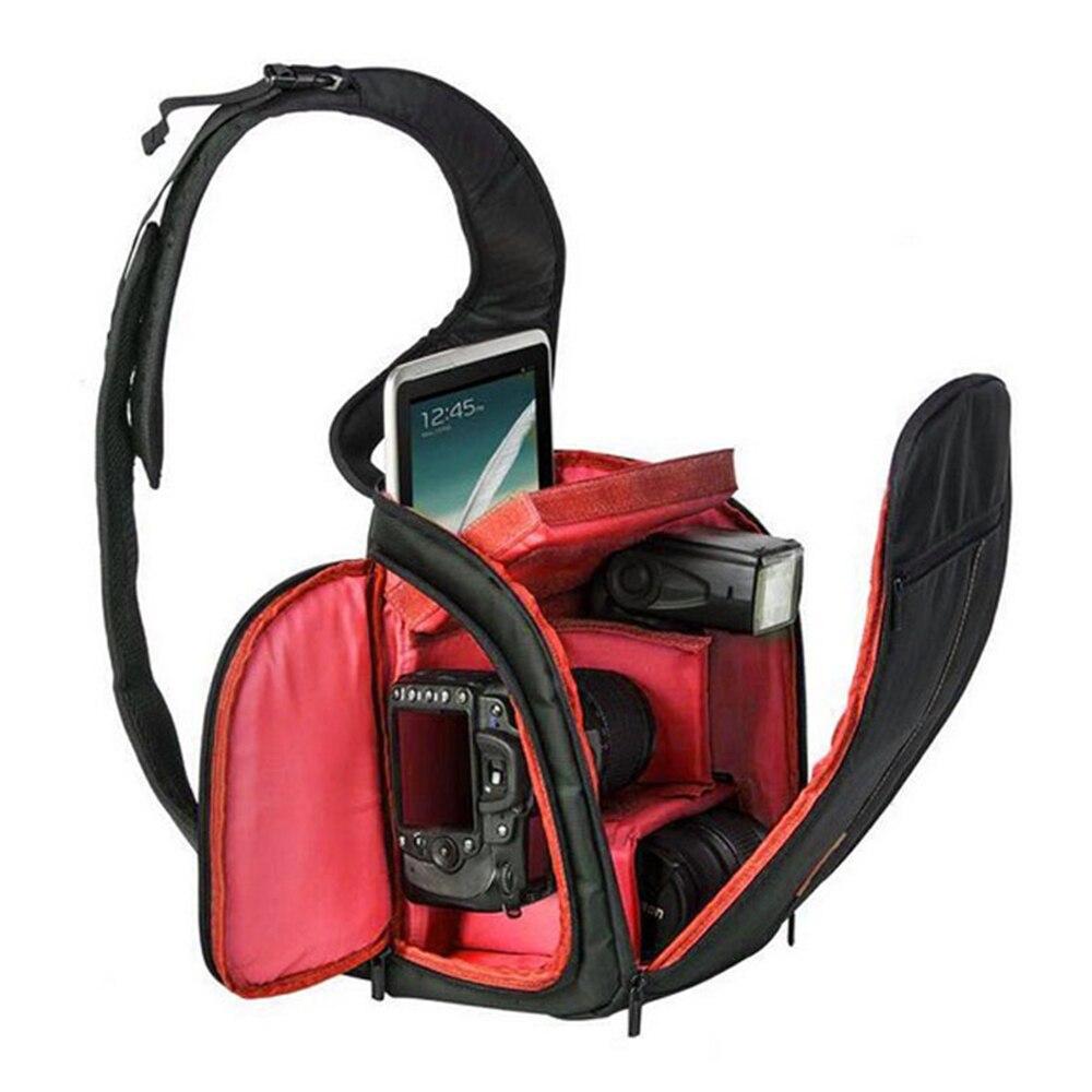 лучшая цена New High Quality Black Photography DSLR Camera Backpack Waterproof SLR Camera Sling Shoulder Bag Outdoor Digital Camera Bag.