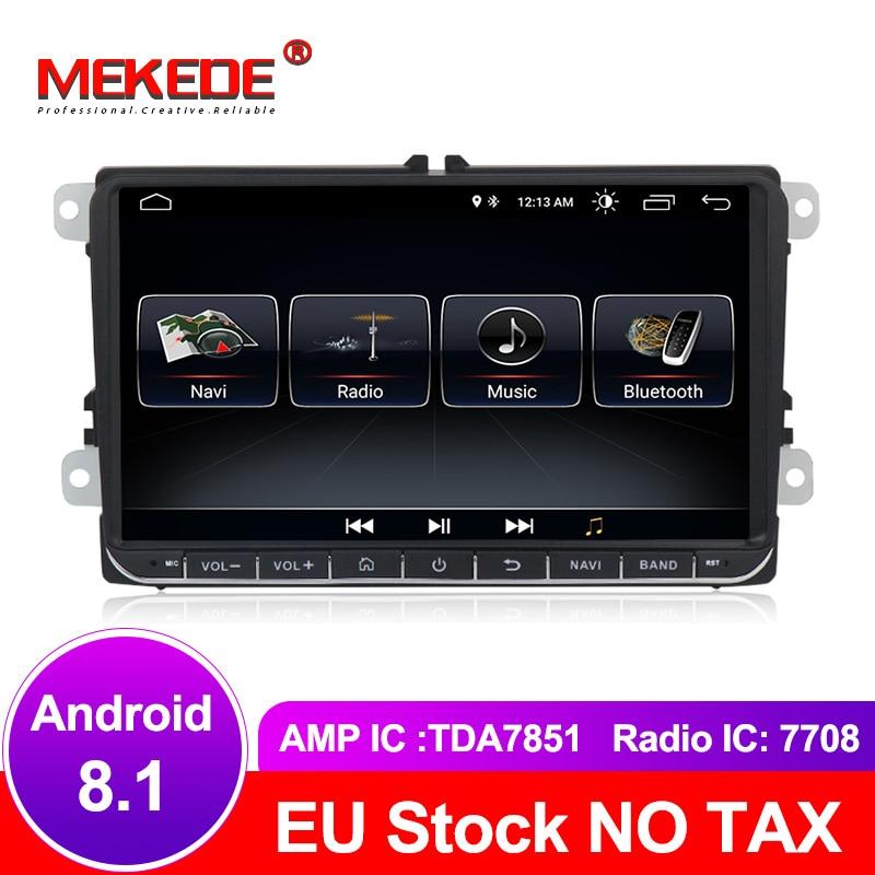 free shipping Android 8 1 Car GPS navigation DVD player For Bora EOS Amarok Caddy TOURAN