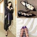 С острым носом женщины в обувь женщина свободного покроя вождения обувь весна шнуровка балет обувь увеличенная высота лианы Zapatos Mujer