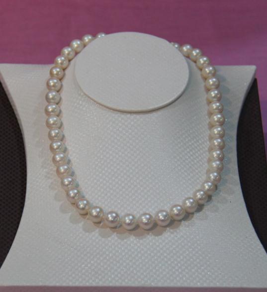 Bijoux en perles naturelles, 100% vraie couleur blanche collier de perles deau douce 9-10mm bijoux en perles classiques pour femme, cadeau de mariageBijoux en perles naturelles, 100% vraie couleur blanche collier de perles deau douce 9-10mm bijoux en perles classiques pour femme, cadeau de mariage
