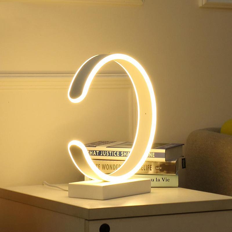 Led Table Lamp Modern Desk Lamp Black Book Reading Light Button Switch Bedroom Living Room Study Office Decoration Lighting