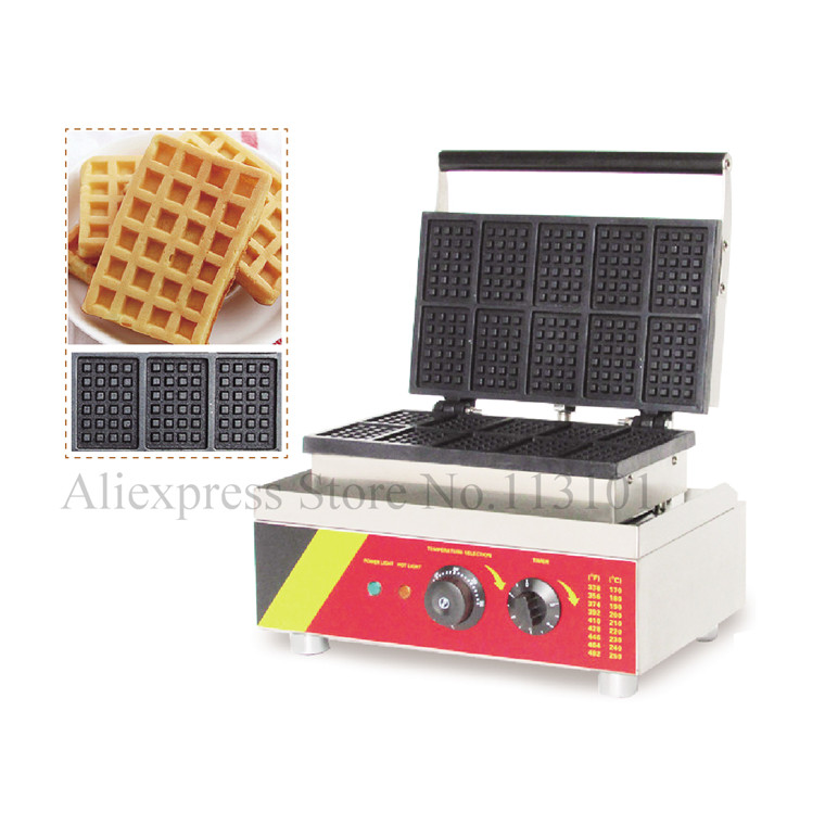 Small Rectangle Waffle Machine Nonstick Stainless Steel Square Waffle Maker With 10 Pcs Waffle In OneSmall Rectangle Waffle Machine Nonstick Stainless Steel Square Waffle Maker With 10 Pcs Waffle In One