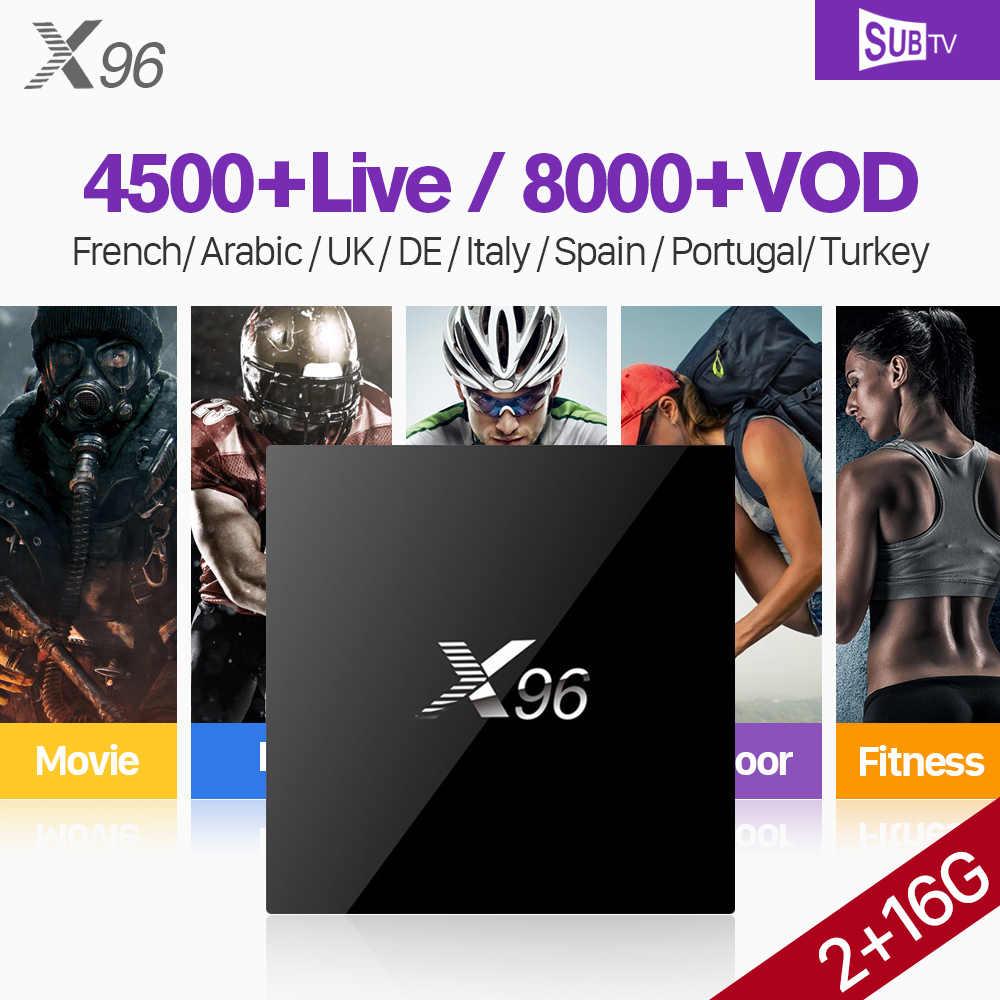 4K X96 Android IPTV France Arabic Box IPTV 1 Year SUBTV IUDTV IPTV QHDTV  Code PK X92 Arabic French Spain Belgium Dutch IPTV Box