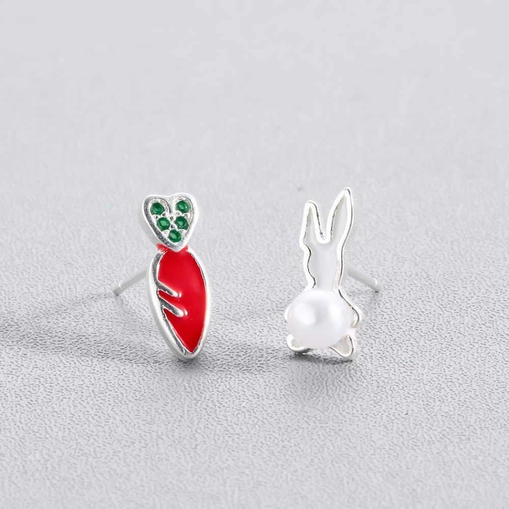 Adorável feminino brincos coreano crianças jóias do bebê bonito animal pássaro olá kitty gato coelho abelha cereja parafuso prisioneiro brincos presente