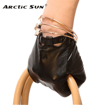Brand Genuine Leather Gloves Fashion Women  Sheepskin Thin Spring Unlined Elegant Lady Finger Driving Glove L026N