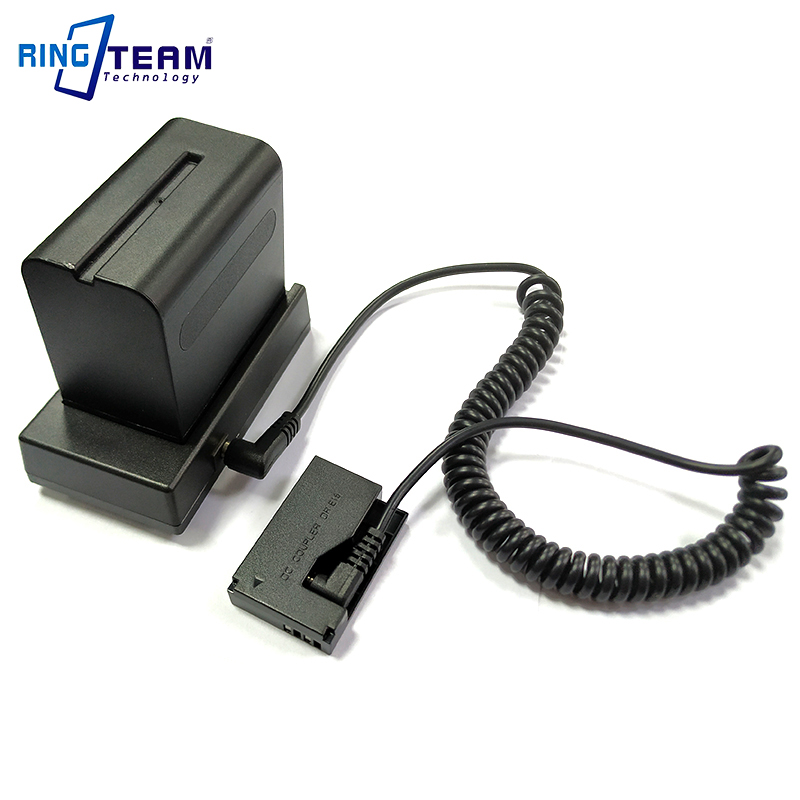 NP-F970 F750 Batterie monture pour support Plaque avec DRE15 Coupleur CC-Appareils Photo Numériques EOS 100D Rebelles SL1