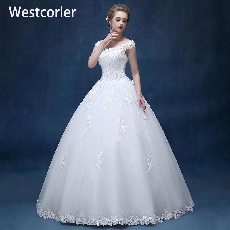 Bridal Lace Tulle A Line Bröllopsklänningar Ärmlös - Bröllopsklänningar - Foto 1