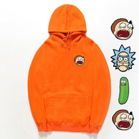 Embroidery Hoodie Rick And Morty Sweatshirts Men 2018 New Hot Selling Pure Cotton Freestyle Mens Rick Morty Casual Tracksuit
