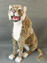 big new creative simulation leopard toy polyethylene&furs leopard Furnishing articles gift about 70cm