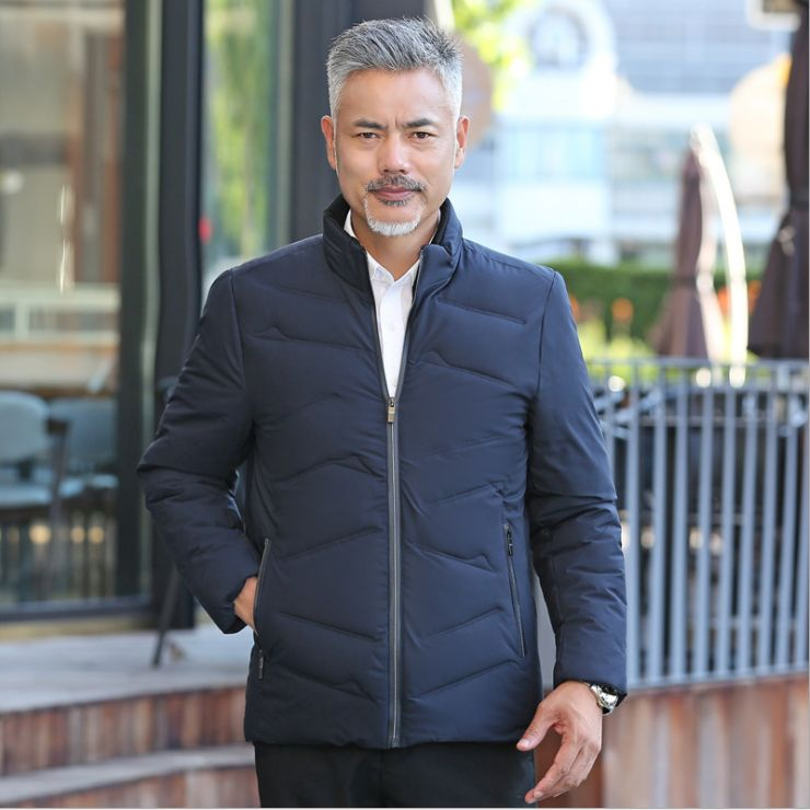 HCBLESS Winter Jacket Men Warm Casual   Parkas   Cotton Stand Collar Winter Coats Male Padded Overcoat Outerwear Clothing