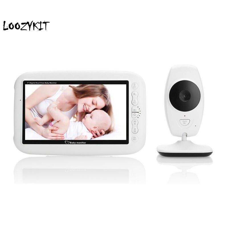 7 0 inch Baby Camera Monitor Night Vision 4 Lullabies Temperature Monitor Babyphone Video Baby Sleeping