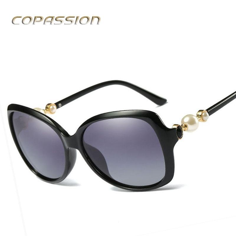 Big pearl Sunglasses Women Polarized uv400 Oversized Vintage Female Sun glasses driver Shades with Case oculos de sol feminino