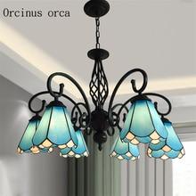 Mediterranean pastoral style chandelier living room dining European minimalist ceiling lamp Postage free