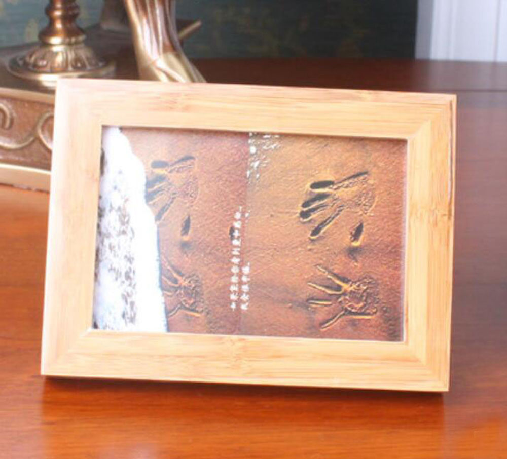 2 unitlot 35x5 classical bamboo photo frames bamboo picture prints ybpf001