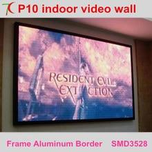 Самый дешевый Крытый видеостена P10 smd полноцветный светодиодный дисплей, 8 scan, 10000/m2