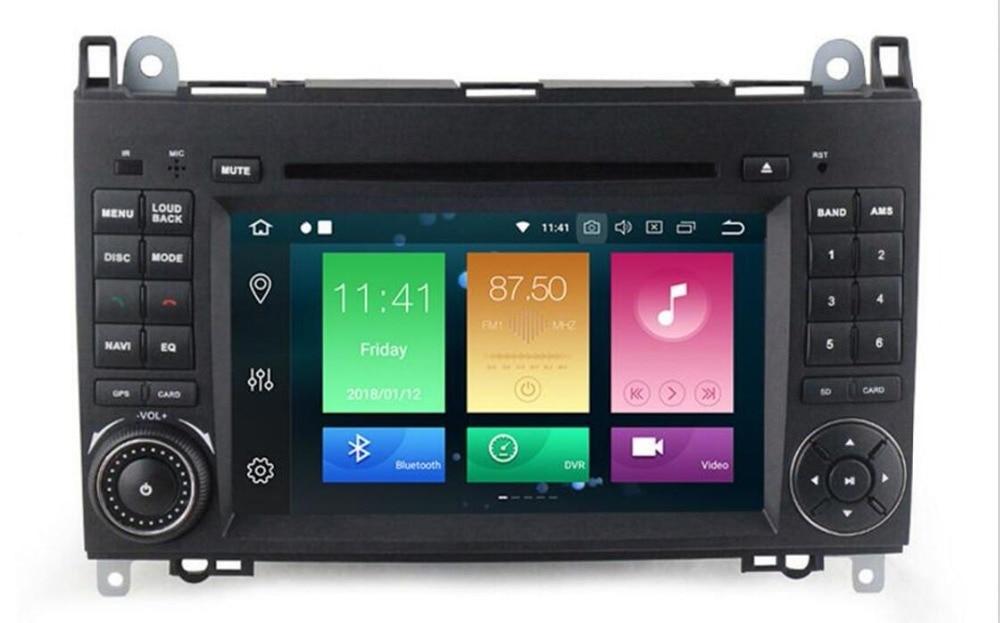 2G RAM Quad Core 1024*600 2 din voiture DVD Android 8.1 pour Mercedes/benz B200 A160 Viano Vito GPS NAVI RADIO BT wifi intégré