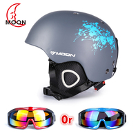 MOON Hot Sale Ski Helmet Integrally molded Skiing Helmet For Adult Outdoor Sports Snow Helmet Safety Skateboard Snowboard Helmet