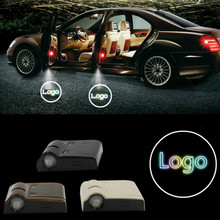 Pour Jeep 2 pcs De Porte de Voiture Bienvenue Lumière LED Laser Ombre 3D projecteur Logo Sans Fil Voiture Bienvenue Porte Pour La Plupart Des Voitures logo lumière