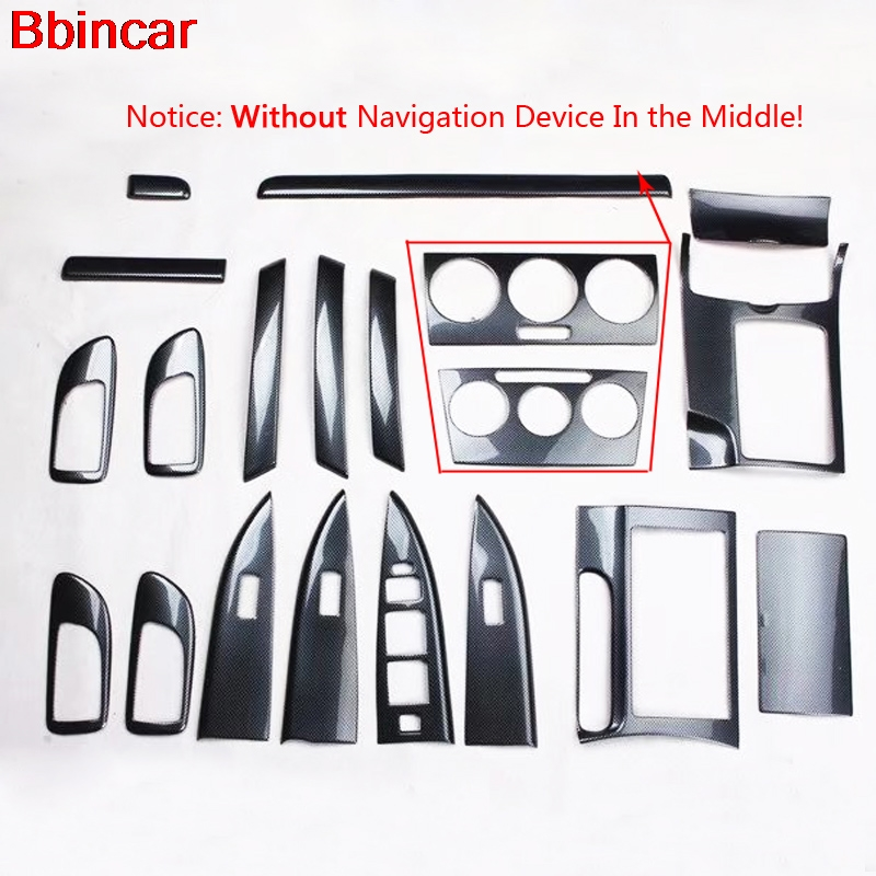 Bbincar ABS Carbon Fiber Paint For Mazda 6 2006 To 2014 Interior Door Panel Front AC Vent Middle Armrest Box Rear Trim Styling