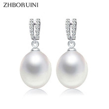 f5d923c1b80c ZHBORUINI 2019 de moda pendientes de perlas naturales de agua dulce
