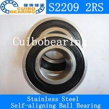 Нержавеющая сталь самоустанавливающиеся шарикоподшипники S2209 2rs Размер 45*85*23