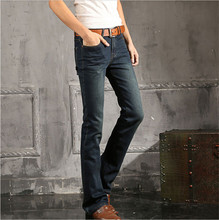 New Arrival 2015 Mens Flared Jeans Men's Bell Bottom Denim Male Big Horn Jean Flare Pants Plus Size 27-36