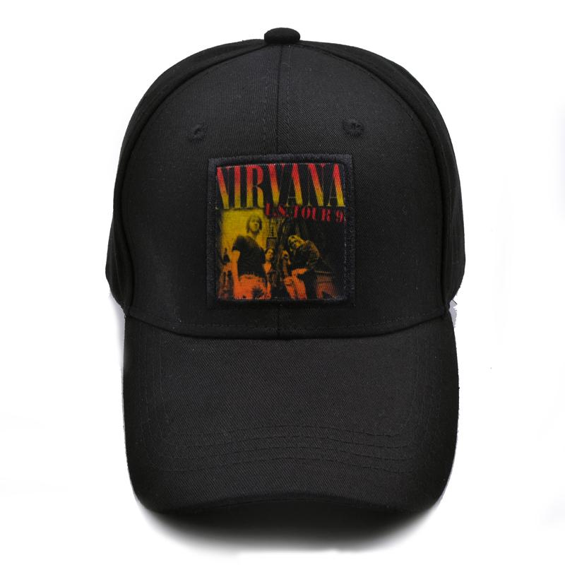 872ed7f9b91 New 2017 Winter Hip Hop Fashion Nirvana Cap Rock Band Mens Caps ...