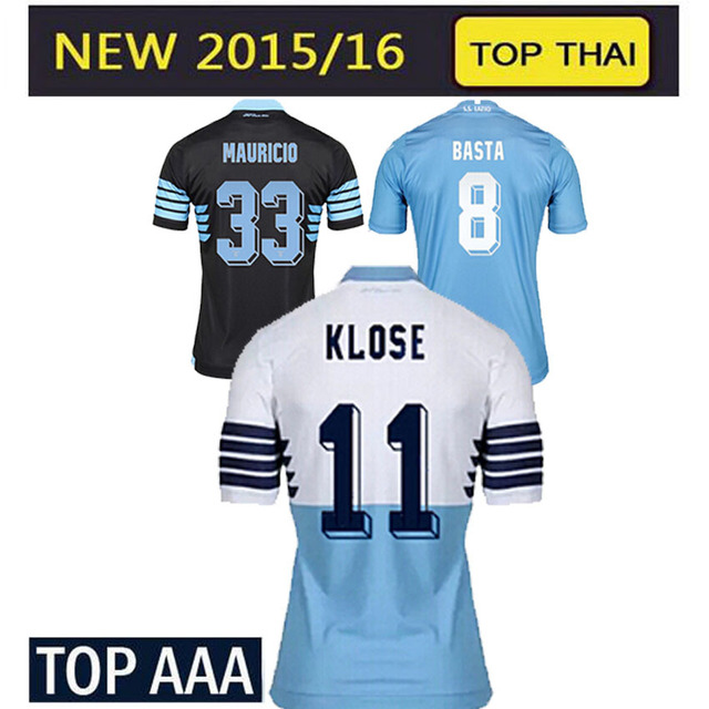 2016 new Lazio jersey 15 16 Lazio home football shirt Klose Candreva  Cavanda jersey Lazio soccer jerseys Eagle 115th Anniversary cd3d42fc9