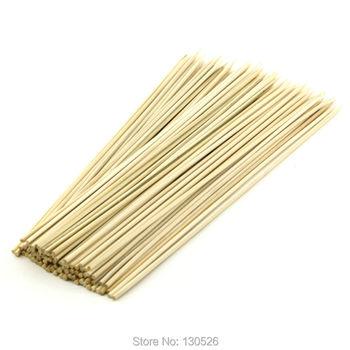 48 sztuk szaszłyki bambusowe 40 45 50 cm 5mm Bold ziemniak tornado szpikulec bambusowe szpikulce do grilla kije Kabob owoce warzywa grilla tanie i dobre opinie Narzędzia Nie powlekany 12 Odporność na ciepło flowerherd Bamboo Roasting Needle