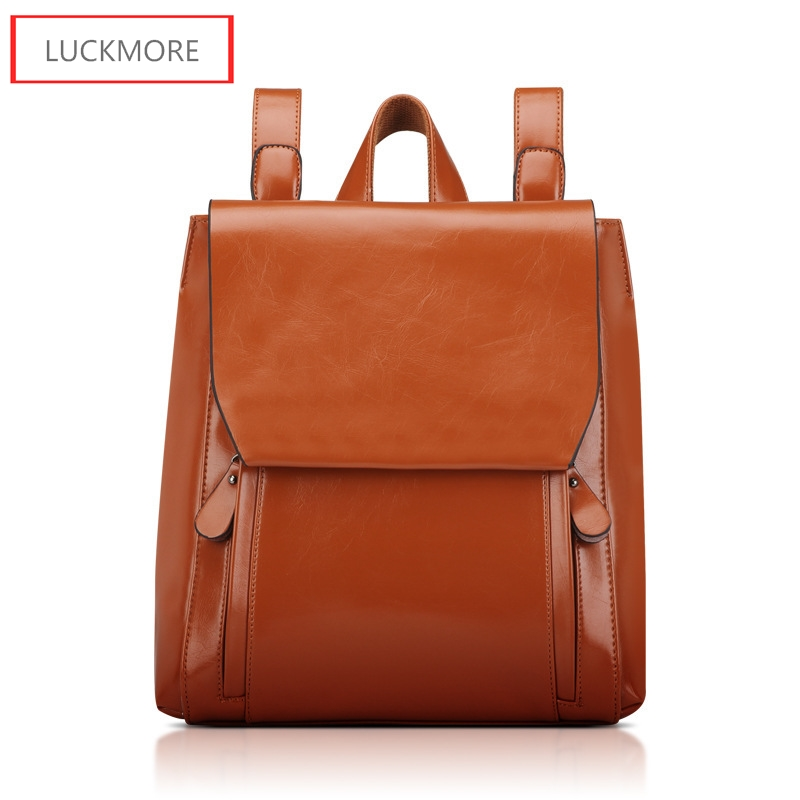 Fashion Womens Bags Genuine Leather Women Girl Students School Bag Small Shoulder Bags Women Casual Back Packs Travel Bag