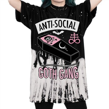 ANTI-SOCIAL 3D Print T Shirt Goth Punk