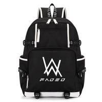2017 New Fashion Alan Walker Faded Print Backpack Women Laptop Backpacks Men Oxford Cloth Bag Students