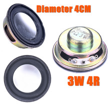 Hot 1pcs Speaker Horn Diameter 4CM 3W 4R Mini Amplifier Rubber Gasket Loudspeaker Trumpet High Quality