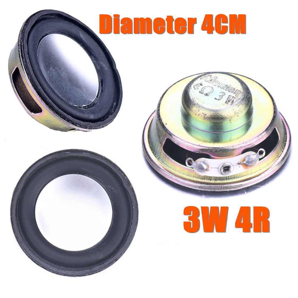 Горячая 1 шт. динамик Рог диаметр 4 см 3 Вт 4R мини усилитель резиновая прокладка громкий динамик труба Высокое качество