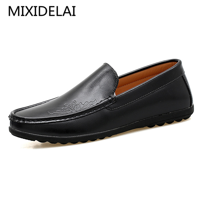 Men Casual Shoes Leather 2017 New Fashion Men's Loafers Driving Shoes Mocassins Spring Autumn Leisure Shoes Man Footwear new 2016 medium b m massage top fashion brand man footwear men s shoes for men daily casual spring man s free shipping