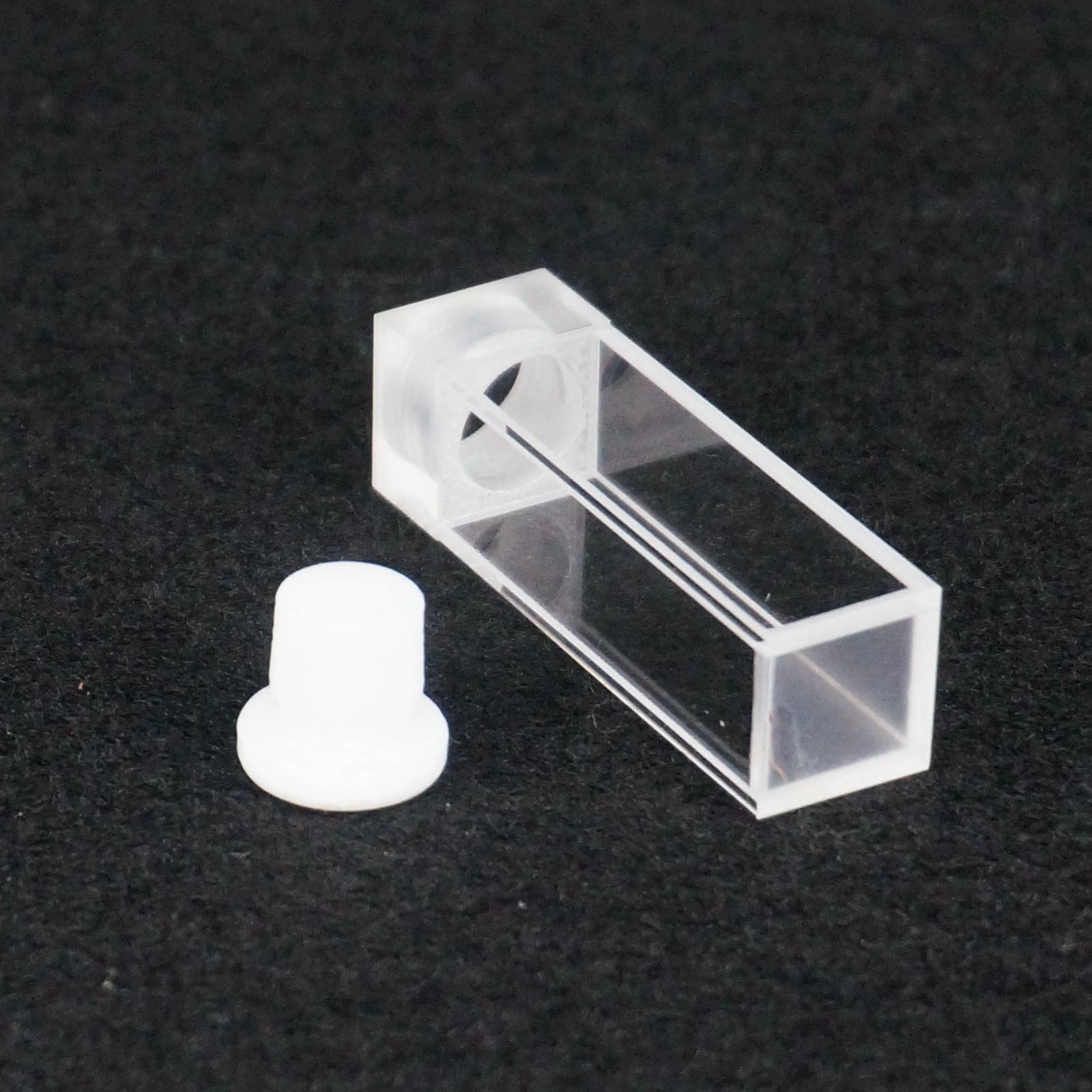 3.5ml 10mm Path JGS1 Quartz Cuvette With Stopper For Fluorescence Spectrometer