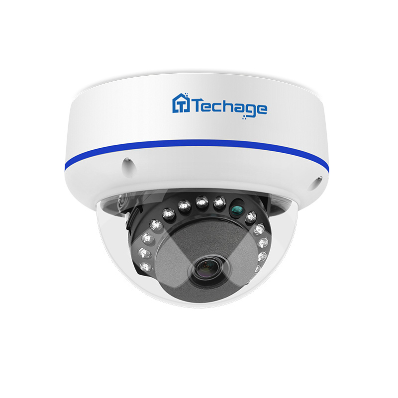Techage 1080p 2mp Dome POE Camera 48V Network HD Onvif Home Security CCTV Video Surveillance P2P IR CUT Night Vision IP Cameras