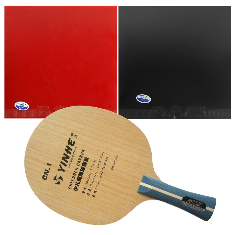 Pro Table Tennis (PingPong) Combo Racket: Galaxy YINHE CN.1 (Training for children) Blade with 2x 729 Super FX Rubbers FL hrt 2091 blade with galaxy yinhe 9000e dawei 388a 4 rubbers for a table tennis combo racket fl