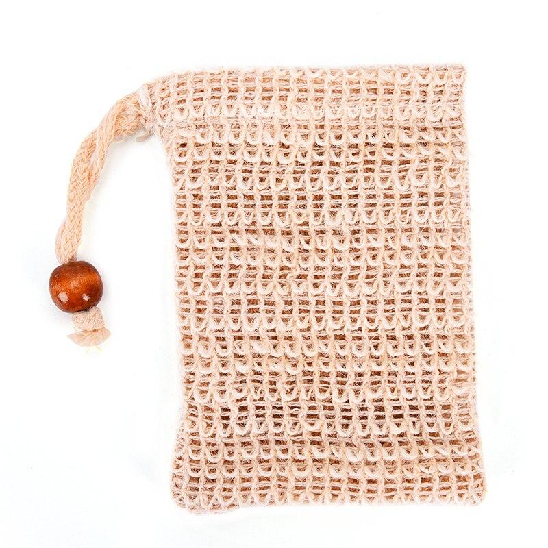 1 Pc Neue Praktische Natürliche Ramie Dusche Peeling Schwamm Pouch Komfortable Blister Mesh Seife Saver Tasche Schäumen Net