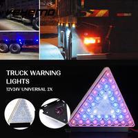 Vehemo 12V 24V 2PCS LED Light LED Taillight Car Refit Rear Lamp Super Bright Foglight