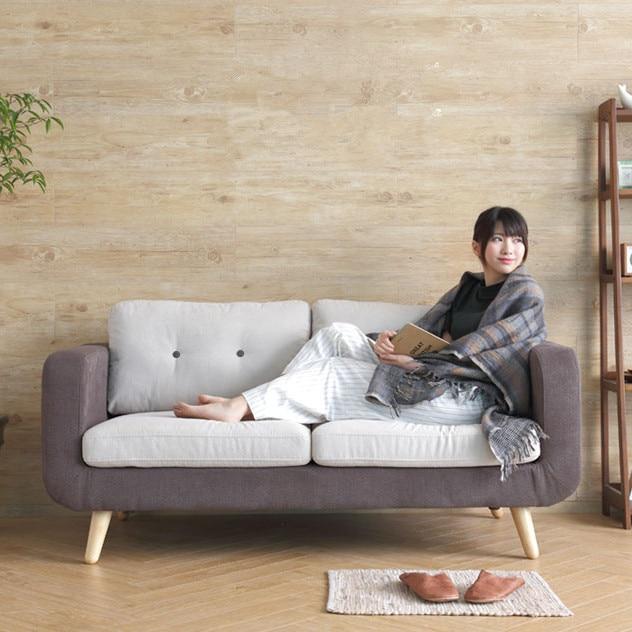 Nordic Ikea Living Room Bedroom Small Apartment Modern Fabric Sofa Combination Of Leisure Single Double Triple