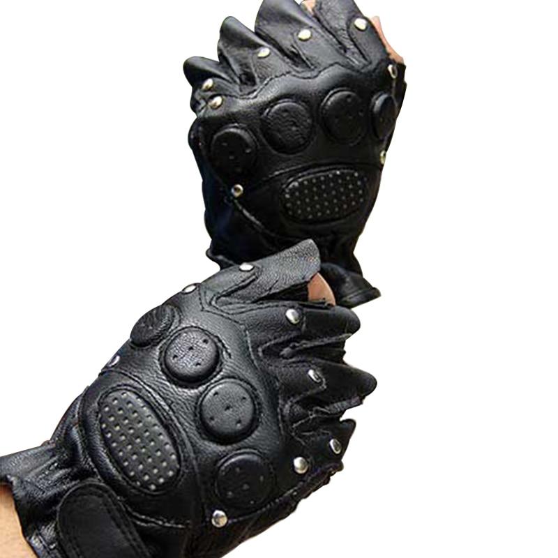Gym Handskar Män Fingerlösa äkta läder Vinterhandske Motion - Kläder tillbehör