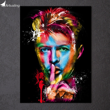 HD Printed Rock singer David Bowie Painting on canvas room decoration print poster picture canvas Free shipping Artsailing
