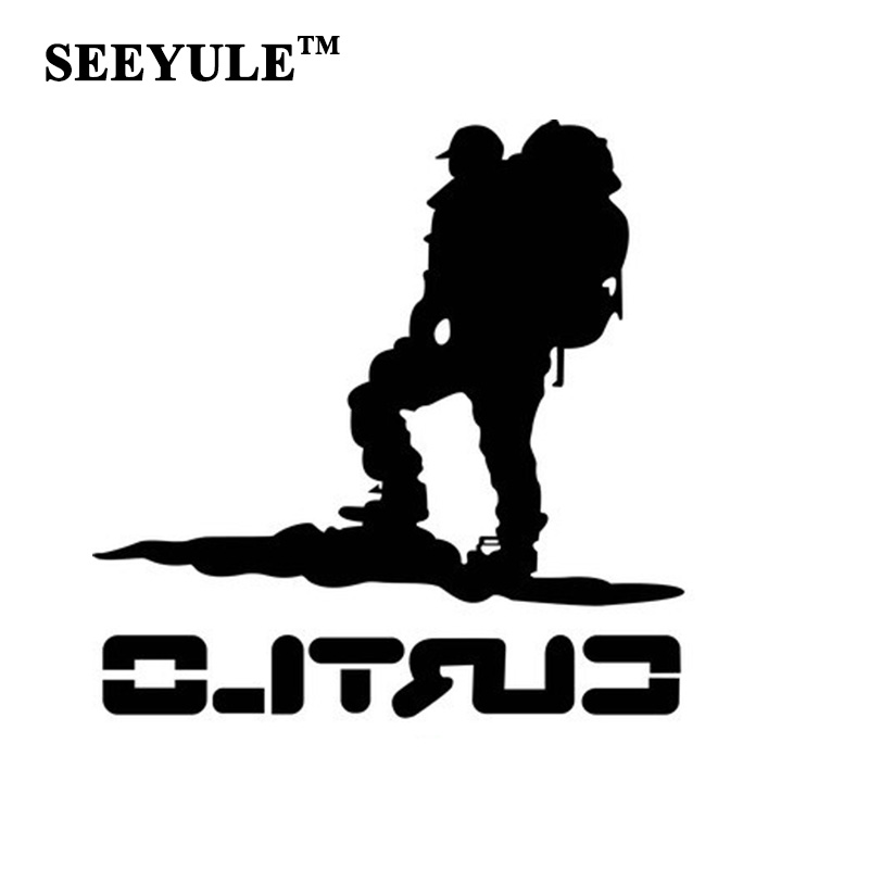 1pc SEEYULE New Arrival Car <font><b>Sticker</b></font> Go Hiking Mountain Climber Outdoor Reflective <font><b>Sticker</b></font> Decal for <font><b>VW</b></font> <font><b>Golf</b></font> Passat Toyota Mazda image