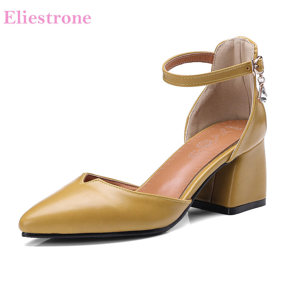shop for newest better search for latest US $20.65 41% OFF|Brand New Formal Beige Green Women Nude Sandals  Comfortable High Heels Lady Office Shoes AS928 Plus Big Small Size 10 32  46-in High ...