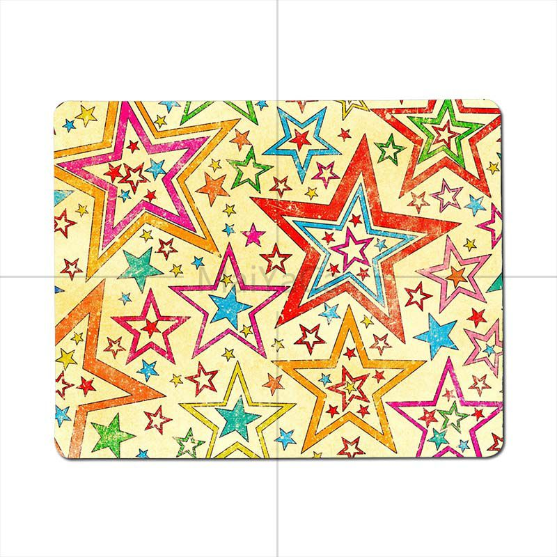 MaiYaCa Beautiful Star background Pattern small Gaming MousePads High Quality Desktop Size for 25X29cm 18x22cm Gaming Mousepads
