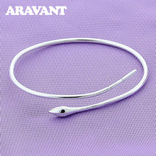 925 Bangle Jewelry Snake Open Cuff Bracelet&Bangle For Women Men Silver Plated Jewelry Accessories cuff bangle 925 sterling silver snake shape european style bracelets for women adjustable jewelry