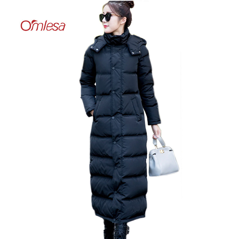 0a1131e00 OMLESA Brand New Winter Down Coat Women X Long Down Parka Detachable ...