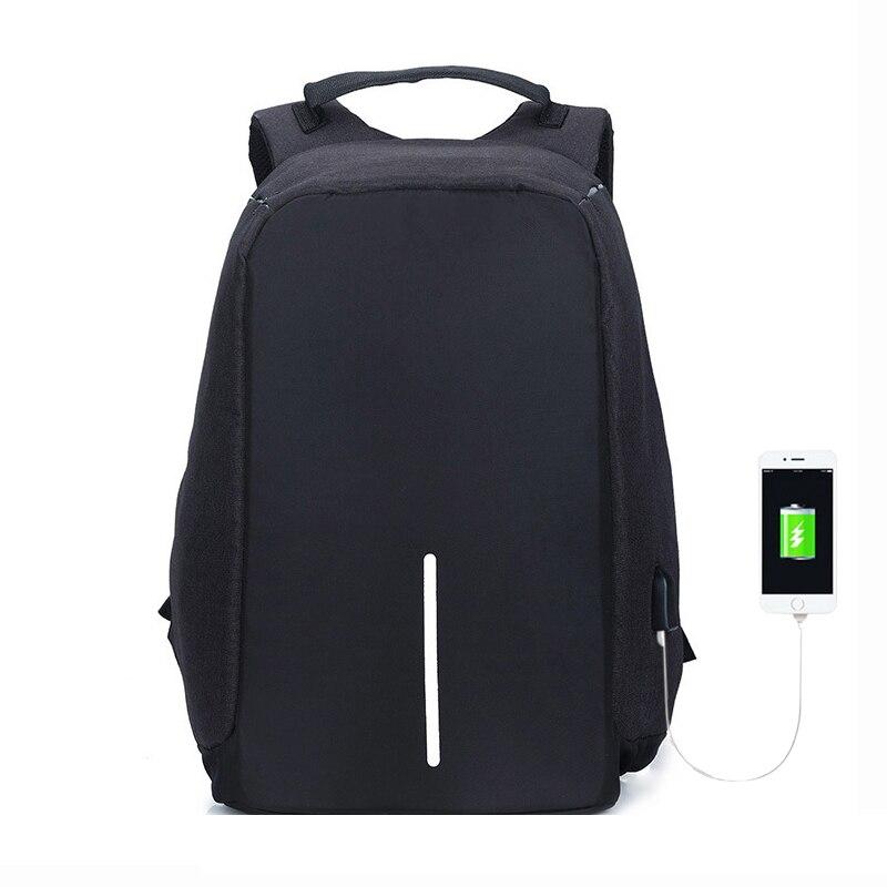 Anti roubo mochila de viagem bobby bagpack grande capacidade usb dos homens do portátil mochila faculdade sacos escola anti roubo
